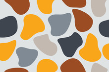 Seamless, Abstract Background Pattern Made With Organic Geometric Shapes. Colorful, Modern Vector Art.