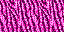Neon Pink Animal Mix Seamless Pattern. Exotic Background.