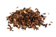 Dried Smoking Tobacco Isolated...