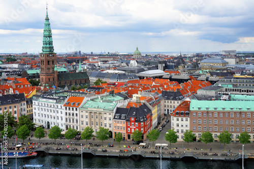 Photo  View of Copenhagen in Denmark