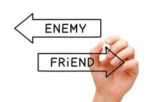 Friend Or Enemy Arrows Concept