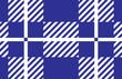 blue and white tartan plaid pattern.Vector illustration.