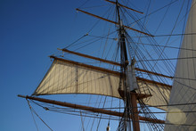 Silhouette Of Sails And Mast O...