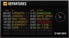 Airport Board Realistic Compos...