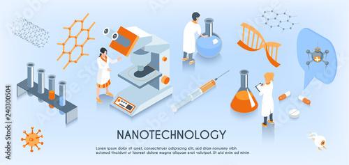 Fotografía  Isometric Nanotechnology Horizontal Composition