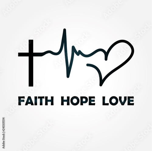 Leinwand Poster faith hope love
