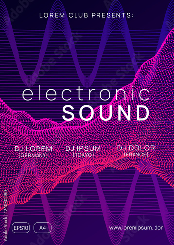 Electronic party  Dynamic gradient shape and line