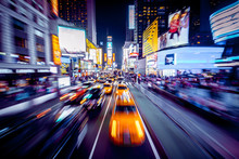 Times Square With Motion Blur ...