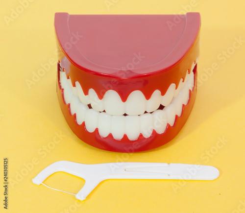 Obraz na plátně It's never too late for conscientious dental care