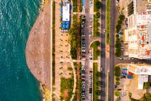Aerial View Of Molos Promenade...