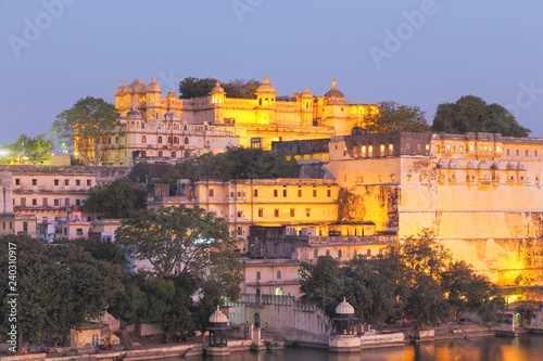 Canvas Prints Athens Udaipur City Palace in Rajasthan state of India