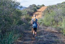 Young Woman Hiking In Mountain...