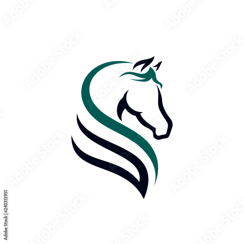 Fototapeta horse logo template obraz
