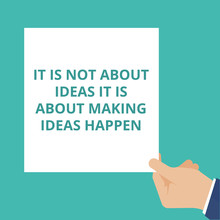 Conceptual Writing Showing It Is Not About Ideas It Is About Making Ideas Happen.