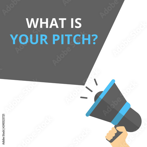 Fotografie, Obraz  Text sign showing What Is Your Pitch Question.