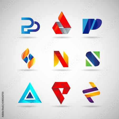 Fototapeta Colorful Logo Set Collection Template Sign Symbol Icon obraz na płótnie