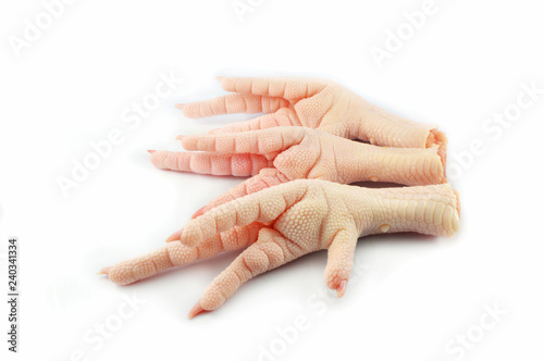 Chicken Feet Isolated On White Background Fresh Raw Chicken Feet Or Foot