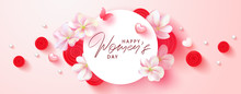 8 March Happy Womens Day Banne...