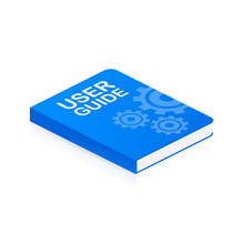 Concept User Guide Book For Web Page, Banner, Social Media. Vector Illustration