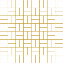 Perpendicular Bricks Background. Seamless Vector Pattern In Gold