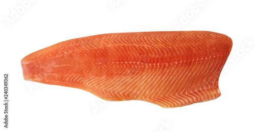 Fototapeta Big Raw Natural Atlantic Salmon Fillet Isolated on White obraz