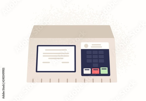 Foto  Electronic brazilian voting machine isolated on white background