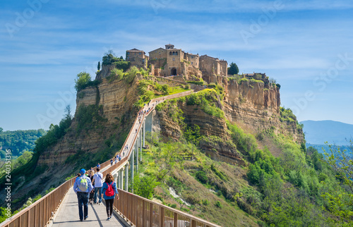 Canvas Prints Cappuccino Civita di Bagnoregio - medieval town on the mountain.