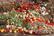 canvas print picture - Überschussvernichtung von Gemüse