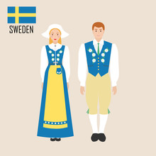 Sweden Woman And Man In Tradit...