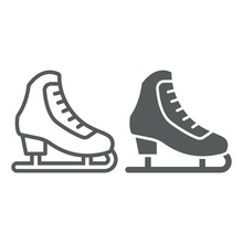 Figure Skating Line And Glyph ...