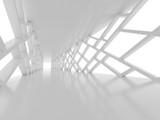 Fototapeta Perspektywa 3d - Futuristic interior corridor, space ship, Futuristic architecture