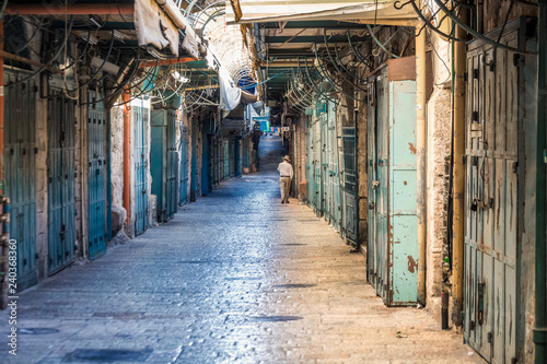 Acrylic Prints Narrow alley Jerusalem old town