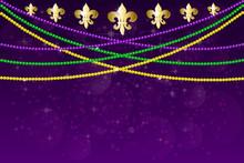 Mardi Gras Carnival Party Design.
