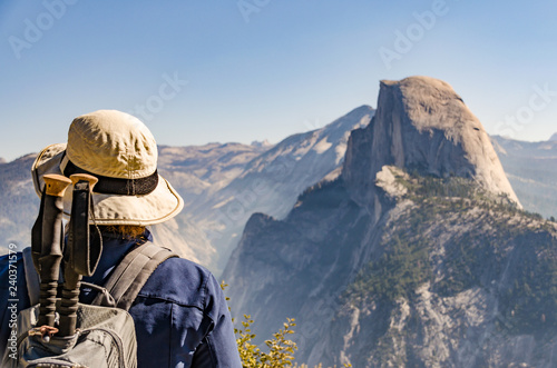 Wandern im Yosemite National Park Canvas Print