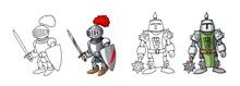 Cartoon Medieval Confident Arm...