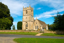 Cotswold Country Church In Long Newnton, Gloucestershire, UK