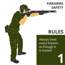 The Firearm Shooting Safety Rules And Signs