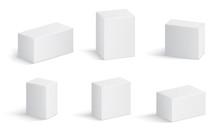 White Cardboard Boxes. Blank M...