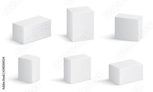 Obraz na plátně White cardboard boxes