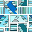 Seamless vector pattern. geometrical hand drawn background with rectangles, squares, lines. Print for background, wallpaper, packaging, wrapping, fabric.