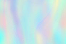 Rainbow Texture. Hologram Foil Iridescent Background. Pastel Fantasy Unicorn Vector Pattern. Illustration Of Iridescent Pattern Rainbow, Hologram Texture