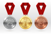 Sports Medals. Golden Silver B...