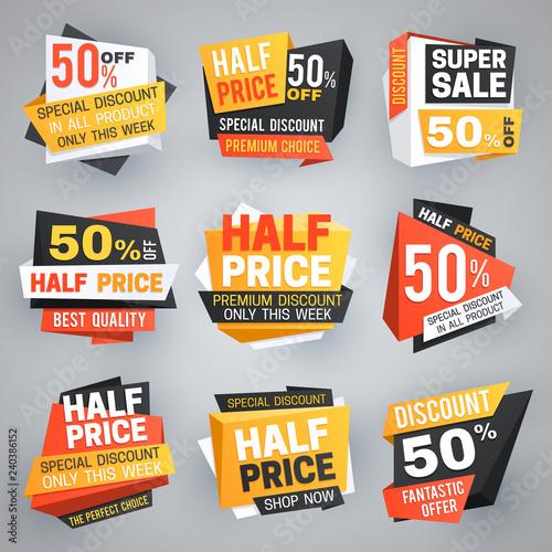 Papel de parede Half price sale tags