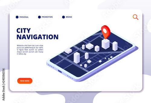 Fotografia Navigation map isometric concept