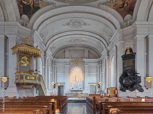 Photo  Interior of Adolf Fredrik Church (Adolf Fredriks kyrka) in Stockholm, Sweden