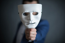 Mask Man Hand