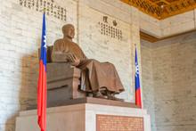 Bronze Statue Of Chiang Kai-shek Inside Chiang Kai-shek Memorial Hall
