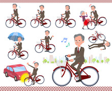 Flat Type Double Suit Old Men_city Cycle