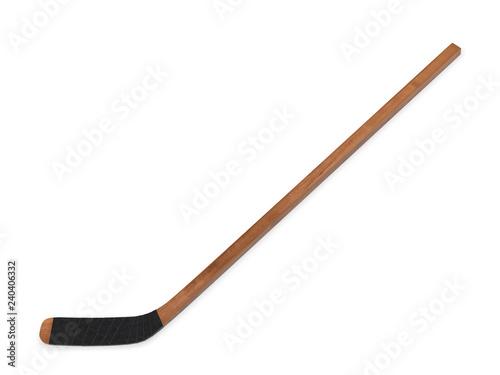 Wooden hockey stick 3d rendering Fototapeta