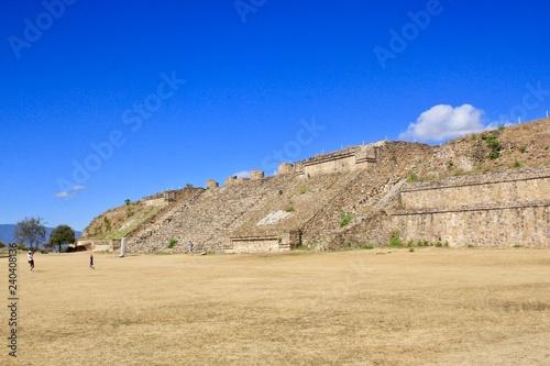 Spoed Foto op Canvas Donkerblauw Monte Alban Oaxaca Mexico